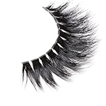 Arimika Handmade 3D Mink Fake Eyelashes -Reusable with Invisible Flexible Band, Soft Fluffy Dramatic Looking,Cruelty Free