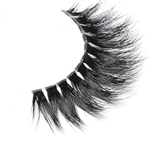 Arimika 3D Mink Eyelashes -Clear Invisible Flexible Band,Glamorous Dramatic Looking,Reusable with Proper Care,ZT40