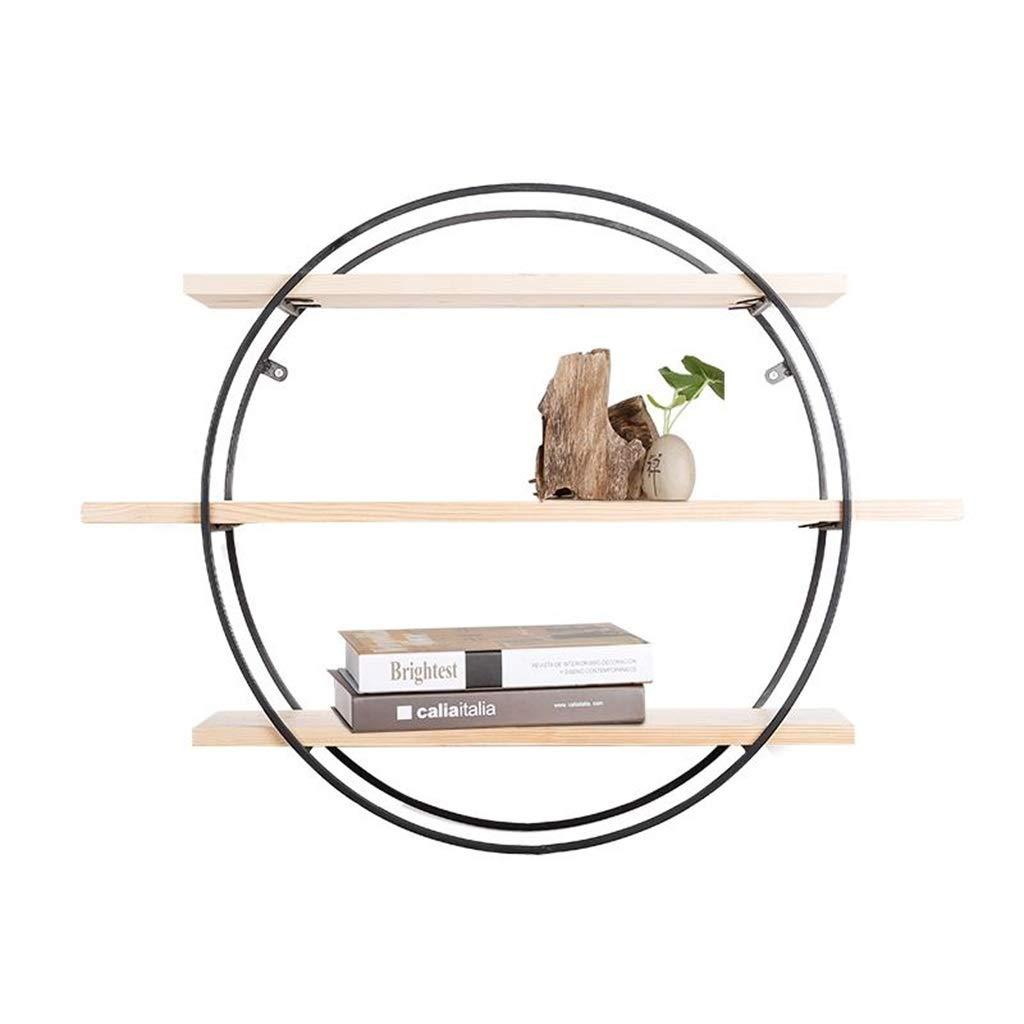 QXJPZ Estantería De De De Pared De Madera Maciza De Estilo Vintage Estantería De Partición De Palabra De Hierro Forjado Colgante De Pared Estante Redondo De Flores Estante De Decoración De Pared De TV Decor d7c2ce