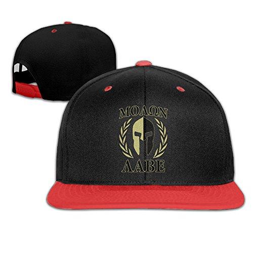 Price comparison product image Molon Labe Olive Laurels Mask Children Baseball Cap Red