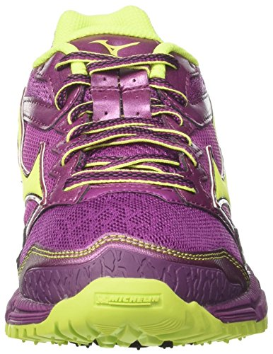 Purple Women's Mizuno Running Safetyyellow 44 Clover Wave Red 3 Darkpurple Daichi WOS Shoes 0Xffdqwr