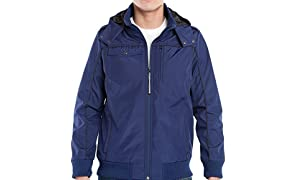 Baubax Men's Travel Jacket Bomber, Medium, Blue