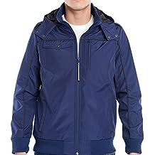 Baubax Men's Bomber Travel Jacket, Blue, Large