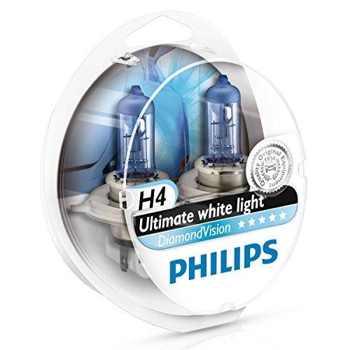 Philips Diamond Vision H4 Upgrade Car Headlight Bulbs 5000K 12342DVS2 (Pair) - Philips Car Lamp