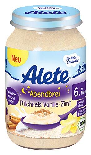 Alete Abendbrei Milchreis Vanille-Zimt, 6er Pack (6 x 190 g)