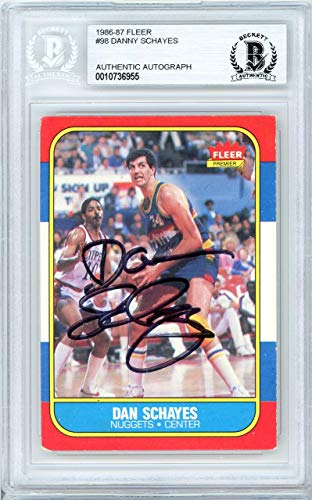 - Dan Schayes Autographed 1986 Fleer Card #98 Denver Nuggets Beckett BAS #10736955 - Beckett Authentication