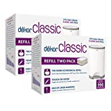 Dekor Classic Diaper Pail Refills | Most Economical Refill System | Quick & Easy to Replace | No Preset Bag Size – Use Only What You Need | Exclusive End-of-Liner Marking | Baby Powder Scent | 4 Count