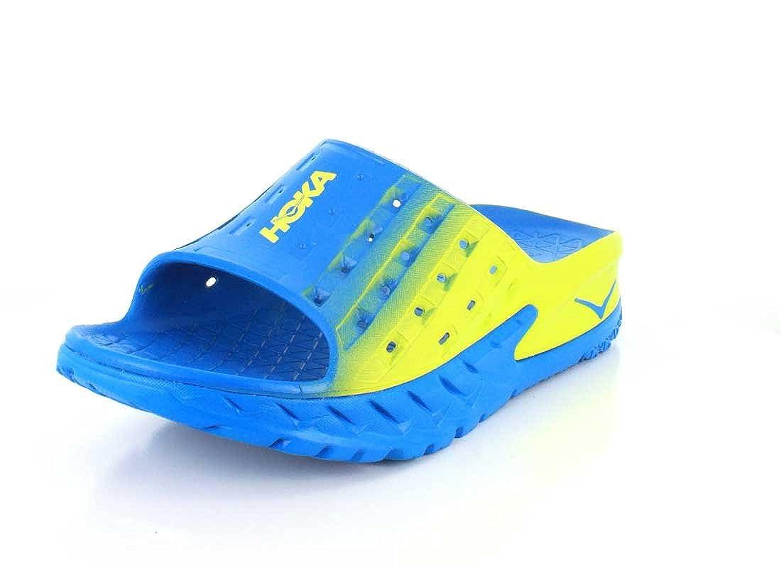 HOKA ONE ONE Men's Ora Recovery Slide (8, Blue/Citrus) B01H6CVIJ6 Parent