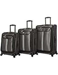 Steve Madden Luggage 3 Piece Softside Spinner Suitcase Set Collection (B-Preferred, One_Size)