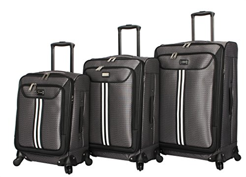 Steve Madden Luggage 3 Piece Softside Spinner Suitcase Set Collection (B-Preferred, One_Size) by Steve Madden Luggage