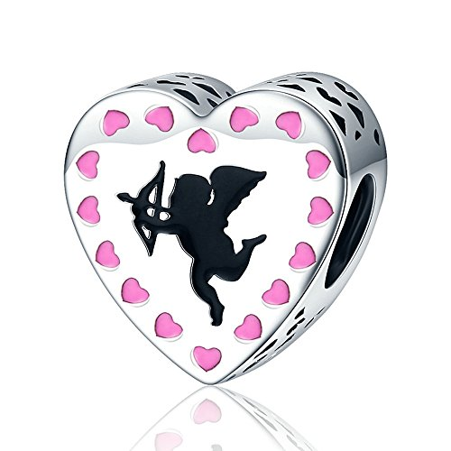- The Kiss All About Love Hearts Forever In My Heart 925 Sterling Silver Bead Fits European Charm Bracelet (Cupid's Love Arrow Pink Heart)