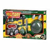 HALO NATION Kids pretend Army Toy Play set - with Military Equipments, Fancy Dress Cosplay, Role Play Game