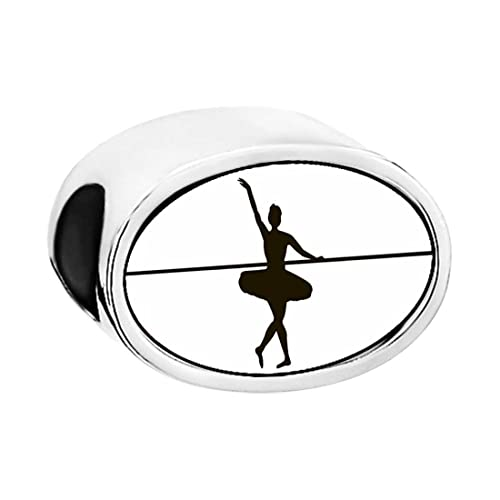 Amazon Com Tjewelryshop Dance Themes Ballet Dancer Bead Charm