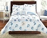 Beach Themed Comforter Sets Seashells, Beach Themed, Nautical Full Comforter Set (8 Piece Bed In A Bag)