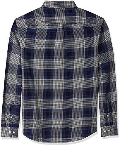 Original Penguin Men's Brushed Plaid Flannel Dress Shirt, Snorkel Blue, Large by Original Penguin (Image #2)