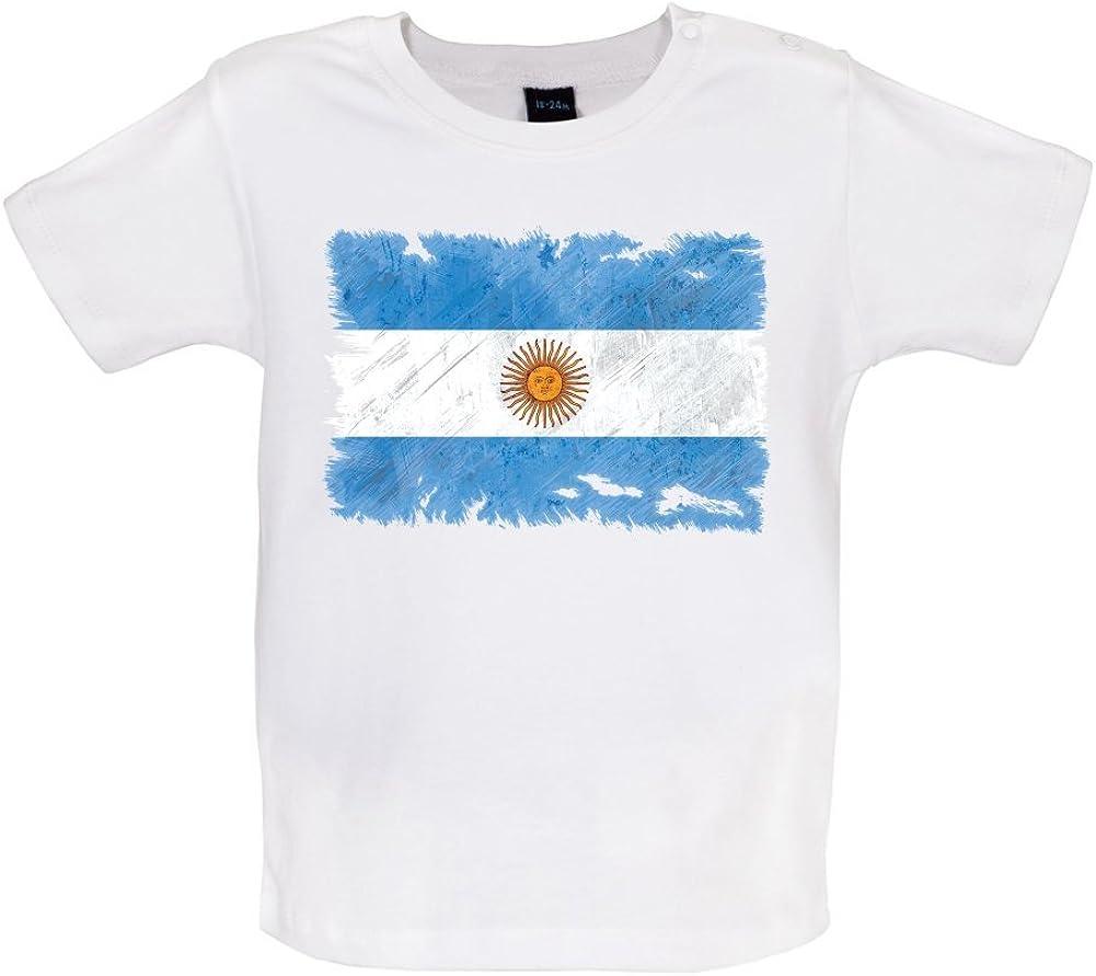 Argentina Grunge Estilo Bandera – bebé/camiseta – blanco – 6 – 12 M: Amazon.es: Ropa y accesorios