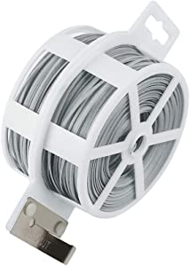 Shintop 328 Feet Garden Plant Twist Tie with Cutter for Gardening, Home, Office (Gray)