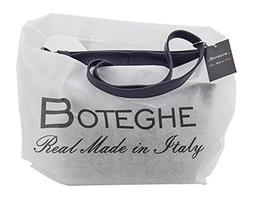 Genuine Tosca Blue Made Italy Bag Leather Handbag Hobos In Schoulder qa7pH