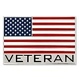 PinMart Bold Veteran American Flag Jewelry Lapel Pin