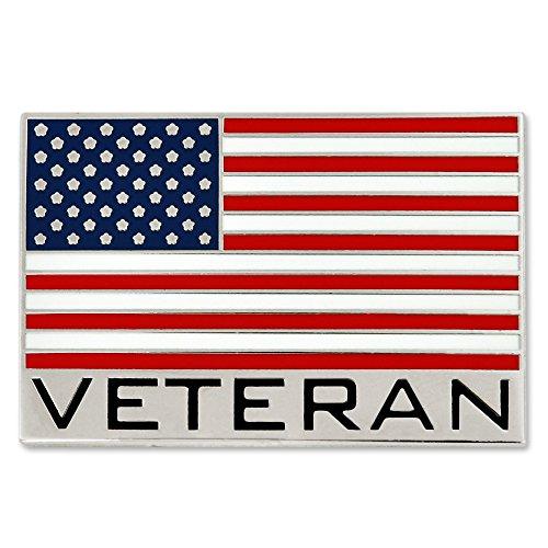 - PinMart Bold Veteran American Flag Jewelry Lapel Pin