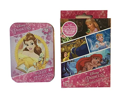 Princess Jumbo Playing Cards and Puzzle Tin Set (Princess)