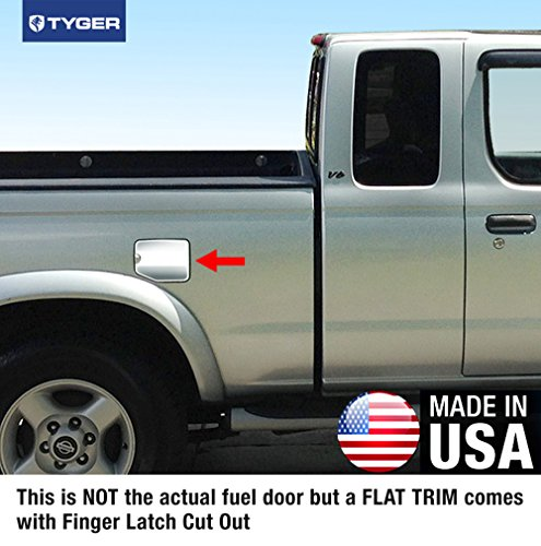Tyger Auto Made in USA! Works with 2000-2004 Nissan Frontier King Cab Gas Cap Chrome Stainless Steel Fuel Cover ()