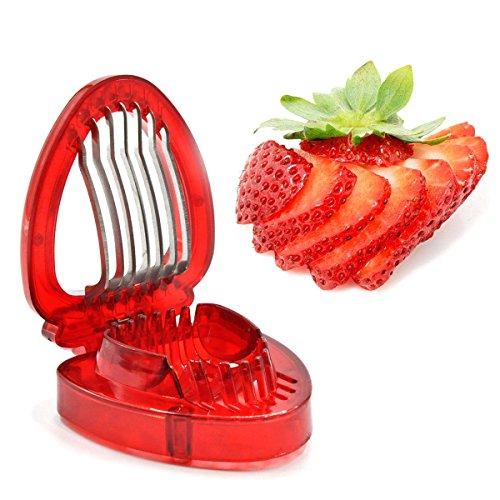 Prokitchen Stainless Steel Blades Strawberry Slicer easy use - Egg Slicer With Blades