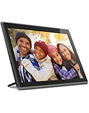 """Aluratek 17.3"""" WiFi Digital Photo Frame with Touchscreen IPS LCD Display & 16GB Built-in Memory, Photo/Music/Video (AWS17F), Black"""