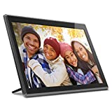 Aluratek 17.3' WiFi Digital Photo Frame with Touchscreen IPS LCD Display & 16GB Built-in Memory, Photo/Music/Video (AWS17F)