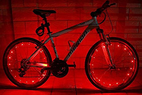 MicroLED light Strings Water Resistant Cool 20 LED Bicycle Bike Cycling Wheel Light Safety Light Spoke Light Lamp Lightweight Accessory 1 Pack