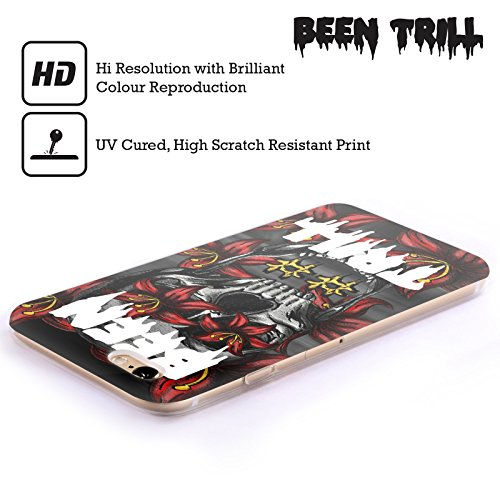 Official Been Trill Floral Skull Mixed Soft Gel Case for Apple iPhone 4 / 4S