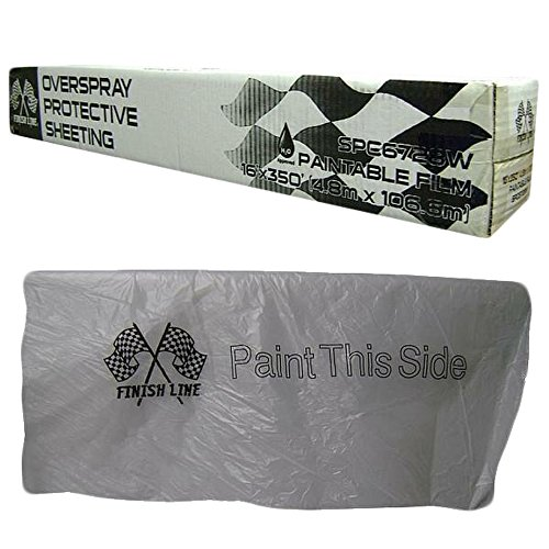 Power Papers Co. MM16 Clear Plastic Sheeting 16' x 350' Feet – Protective Masking Film – Automotive Painting & More
