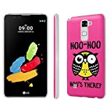 LG [G Stylo2/G Stylus 2] Phone Case [SlickCandy] [Matte] Ultra Slim Cover - [Hoo is There Owl] for LG [G Stylo 2 LS775] [Stylus 2 L82VL L81VL K540 K520 ]