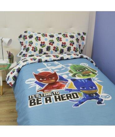 10XDIEZ Funda NÓRDICA PJ Mask Hero - Medidas Cama - Cama de 90cm