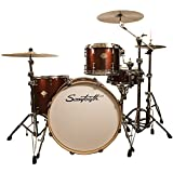 Sawtooth ST-COM-4PC-24-RS Command Series 4-Piece Shell Pack with 24'' Bass Drum, Red Streak