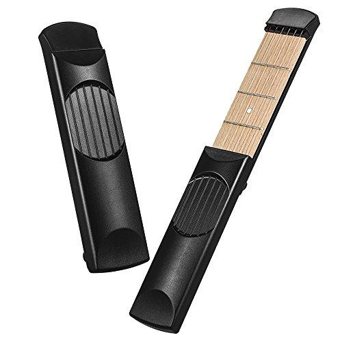 휴대용 포켓 기타 연습 도구 가제트 기타 화음 트레이너 4 Fret 검..