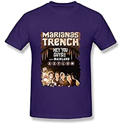 SY Marianas Trench The Hey You Guys Tour Cotton T Shirt For Men Purple XXL