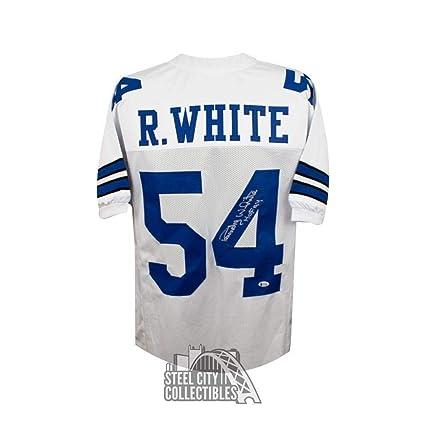 225b5eb4 Randy White HOF Autographed Signed Dallas Cowboys Custom White Football  Jersey Signature - Beckett Authentic