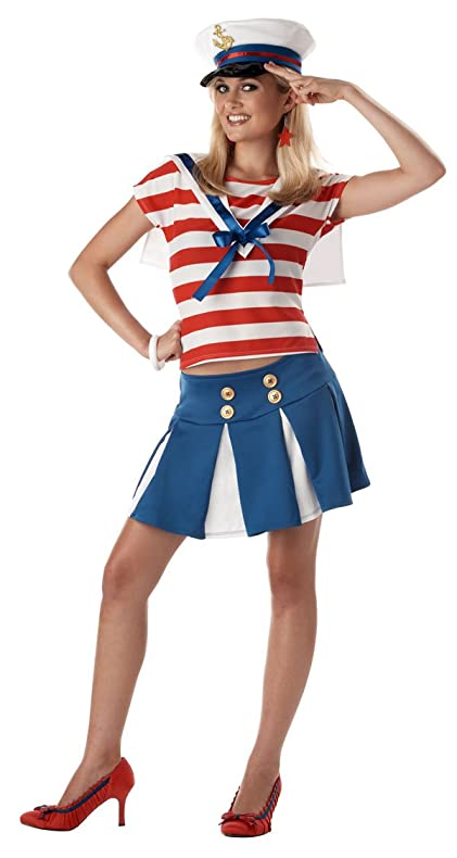 Amazoncom Teen Cruise Ship Cutie Sailor Costume Teen Toys - Cruise ship costume