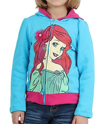 Princess Ariel Crown Girls Hooded Sweatshirt Size 6