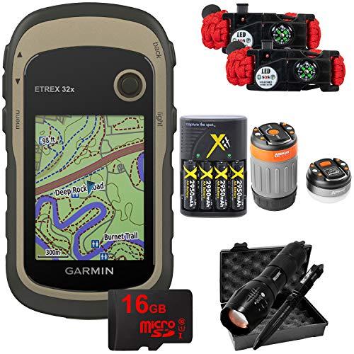 - Garmin eTrex 32x: Rugged Handheld GPS with 16GB Camping & Hiking Bundle 010-02257-00
