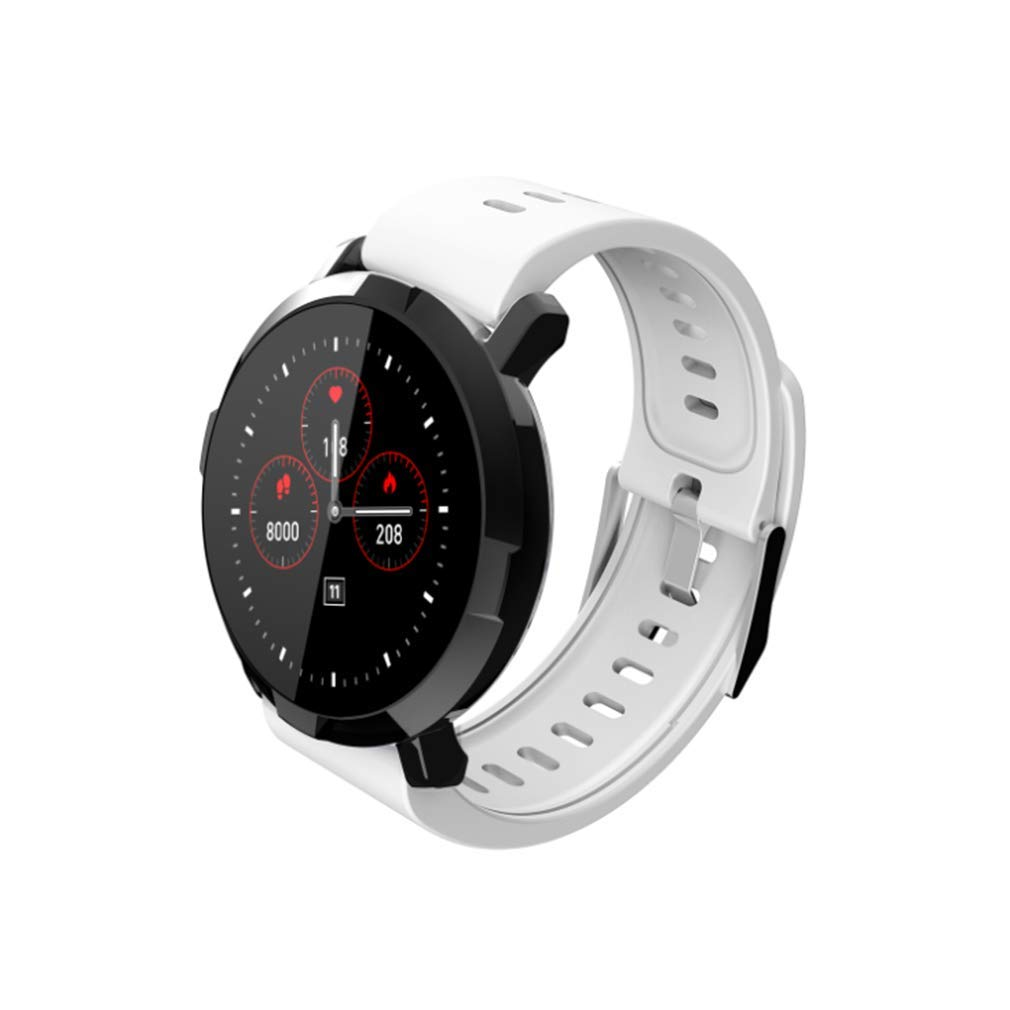 White Activity Touch Screen Smart Watch IP67 Waterproof Fitness Tracker Heart Rate Sleep Monitor  blueeetooth Pedometer Step Calorie Counter for iOS Android