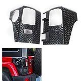 RT-TCZ Tail light Cowl Armor Cover Trim for 2007-2018 Jeep Wrangler JK JKU (Black)