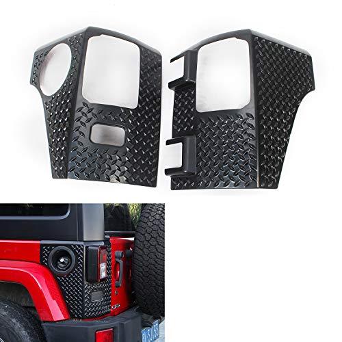 (RT-TCZ Tail light Cowl Armor Cover Trim for 2007-2018 Jeep Wrangler JK JKU (Black))