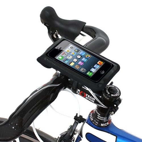 "Price comparison product image Satechi Bikemate Zip Universal Bicycle Mount 4"" x 6"" for iPhone X/8 Plus/8/7, Samsung Galaxy S9/8, Note 3 and more"