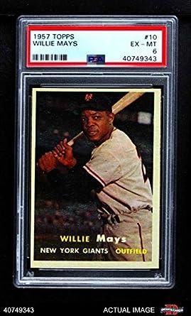 Amazoncom 1957 Topps 10 Willie Mays New York Giants