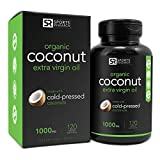 Organic Coconut Oil 1000mg; The Only Vegetarian and Vegan safe Coconut Oil Capsule Available; Non-GMO & Gluten Free - 120 Veggie Softgels; Made In USA