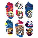 Disney Frozen Girls 4 pack Socks 6300FH4PK Lurex Elsa Anna No Show
