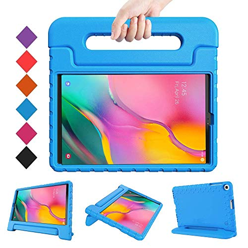BMOUO Kids Case for Samsung Galaxy Tab A 10.1 (2019) SM-T510/T515, Shockproof Light Weight Protective Handle Stand Kids Case for Galaxy Tab A 10.1 Inch 2019 Release SM-T510/T515 - Blue (Best Tablets 2019 For Kids)