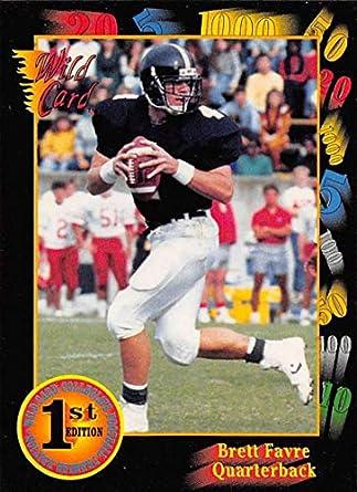 differently 9f066 e5055 Amazon.com: 1991 Wild Card Draft Football #119 Brett Favre ...